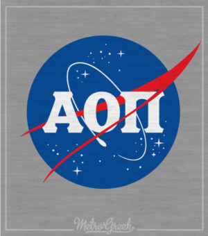 Alpha Omicron Pi NASA Bid Day Shirt