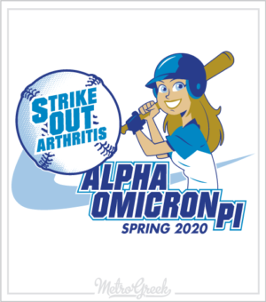 AOPi Strike Out Arthritis Baseball Shirt
