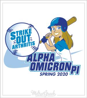 AOPi Strike Out Arthritis Baseball Shirt