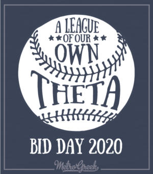 Theta Baseball Bid Day Shirt