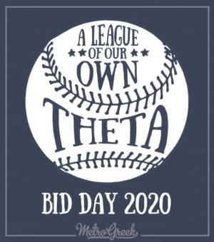 Theta Baseball Bid Day Shirt