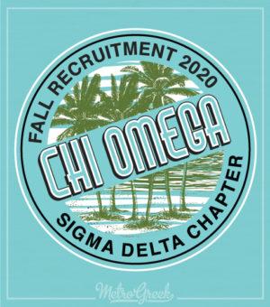 Chi Omega Recruitment Shirt Palms