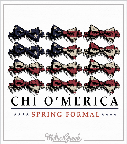 Chi Omega Spring Formal Shirt Bowtie