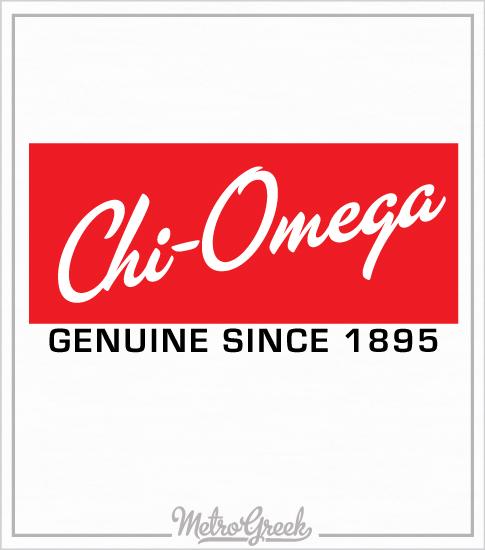 Chi Omega Sunglasses Logo Shirt
