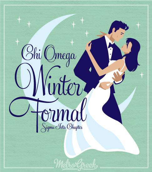 Chi Omega Winter Formal Moon Shirt