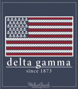 Delta Gamma Flag and Anchors Shirt
