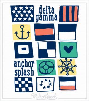 Delta Gamma Flash Anchor Splash