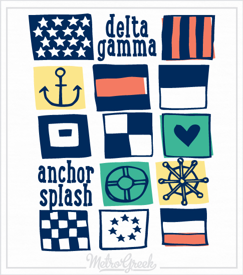 Delta Gamma Flash Anchor Splash