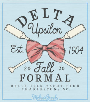 Delta Upsilon Crossed Oars Formal Shirt