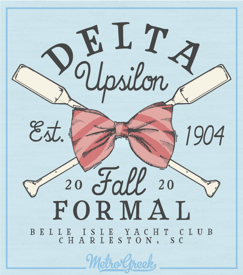 Delta Upsilon Crossed Oars Formal Shirt