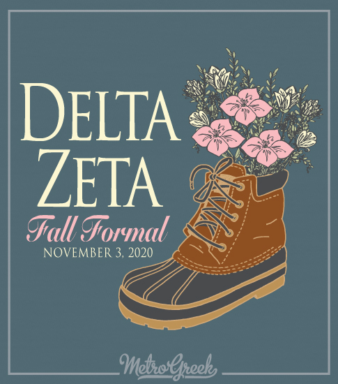 Delta Zeta Duck Boots Formal Shirt