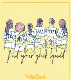 Find Your Greek Squad Panhellenic Shirt