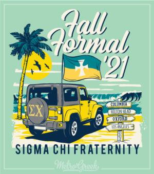 6114 Sigma Chi Beach Formal Shirt Beach