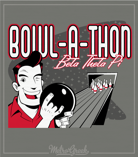 Fraternity Bowl A Thon Philanthropy Shirt