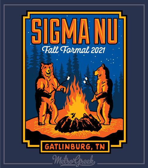 Fraternity Formal Shirt Sigma Nu Bears