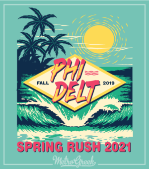 Fraternity Rush Shirt Phi Delt Beach