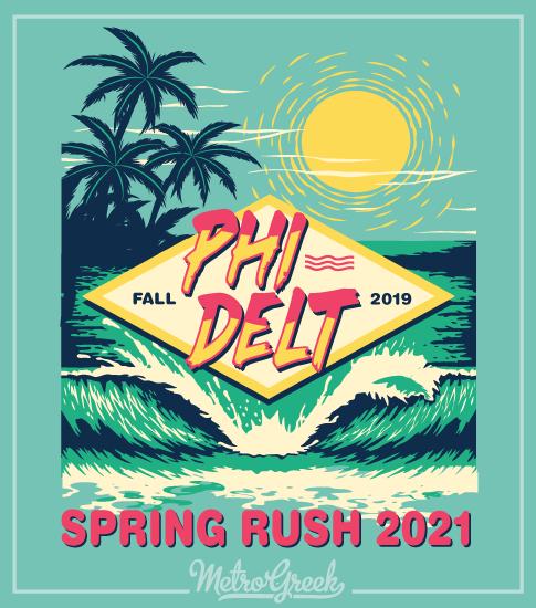 Fraternity Rush Shirt Phi Delt Beach