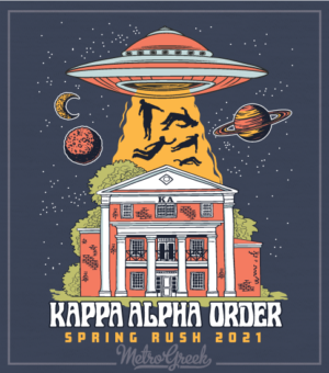 Kappa Alpha Rush Shirt With UFO Tractor Beam