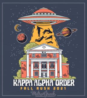 Kappa Alpha Rush Shirt With UFO