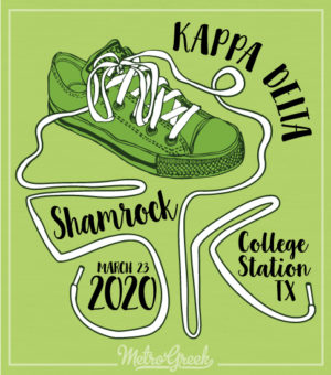 Kappa Delta 5K Run Shirt Shoelaces