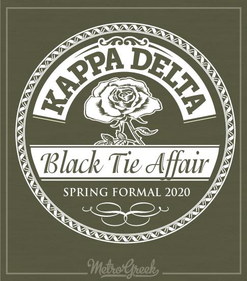 Kappa Delta Black Tie Formal Shirt