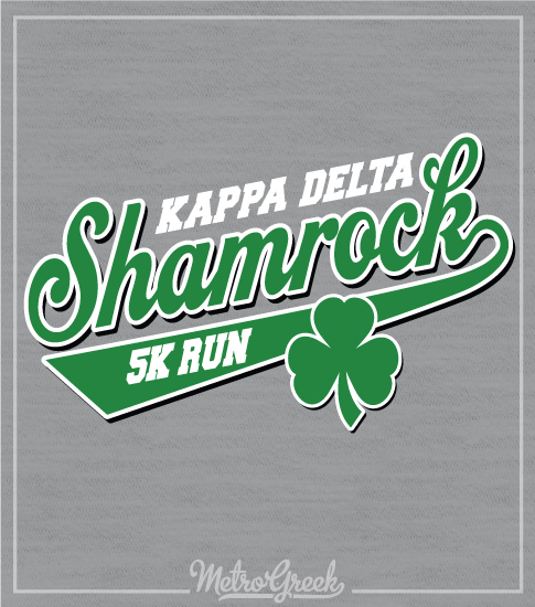 Kappa Delta Shamrock Shirt Script