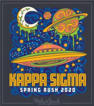 Kappa Sigma Rush Shirt Planets UFO