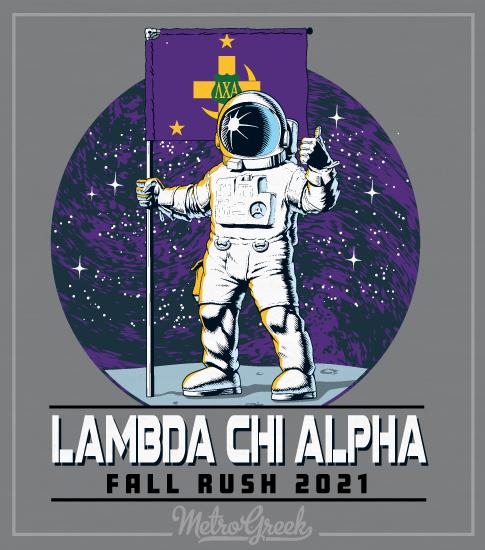 Lambda Chi Rush Shirt Astronaut with Flag