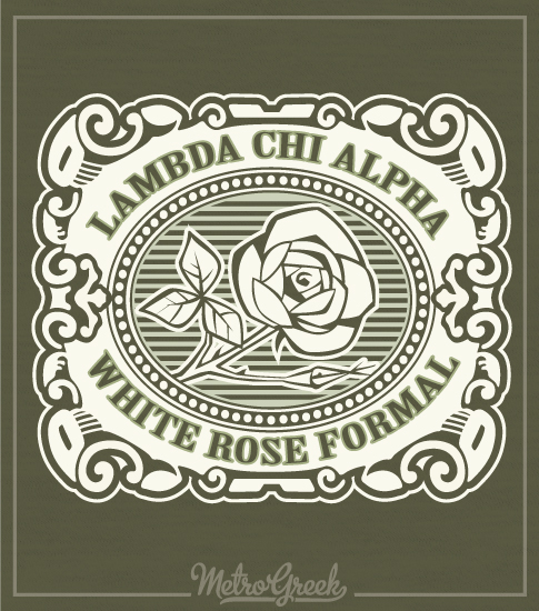 Lambda Chi Alpha White Rose Formal Shirt