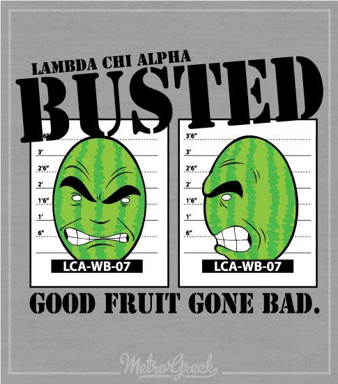 Lambda Chi Watermelon Bust Shirt Fruit
