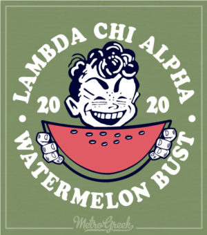 Lambda Chi Alpha Watermelon Bust Shirt