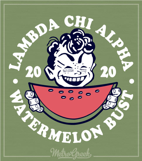 Lambda Chi Alpha Watermelon Bust Shirt