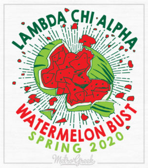 Lambda Chi Watermelon Bust Shirt Explode