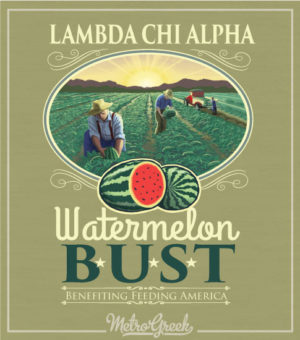 Lambda Chi Watermelon Field Shirt