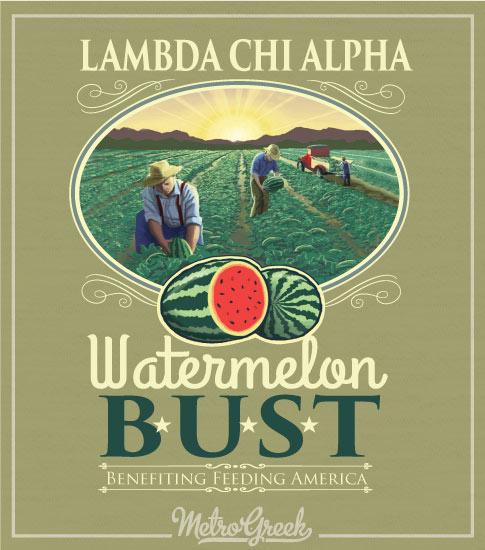 Lambda Chi Watermelon Field Shirt