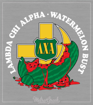 Lambda Chi Watermelon Cross and Crescent