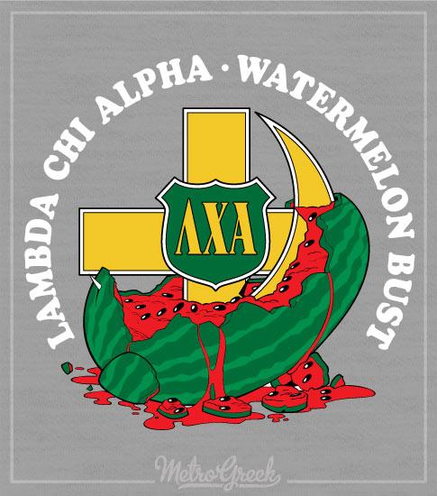 Lambda Chi Watermelon Cross and Crescent