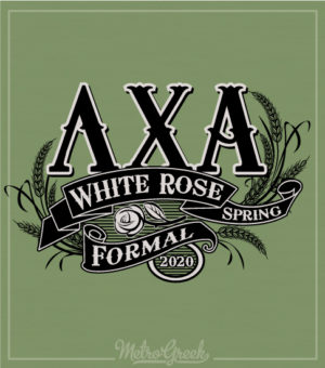 Lambda Chi Alpha White Rose Shirt