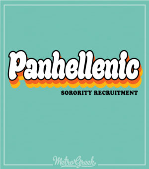 Panhellenic Shirt Retro Seventies Shirt