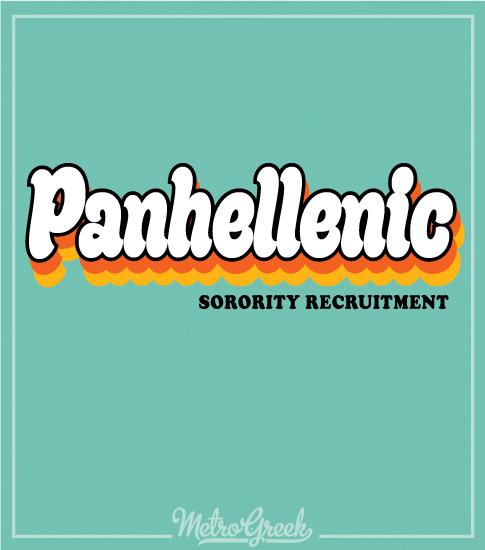 Panhellenic Shirt Retro Seventies Shirt