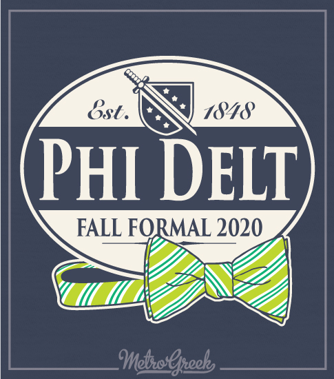 Phi Delta Theta Formal Bowtie Shield Shirt