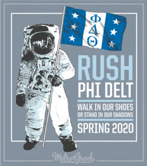 Phi Delta Theta Astronaut Rush Shirt