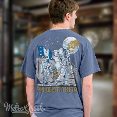 Phi Delta Rush Shirt Golfing Astronauts