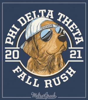 Phi Delt Rush Shirt Golden Retriever