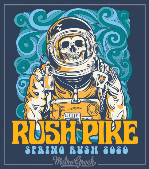 Pi Kappa Alpha Rush Shirt Astronaut