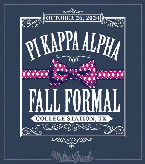 Pi Kappa Alpha Bowtie Formal Shirt