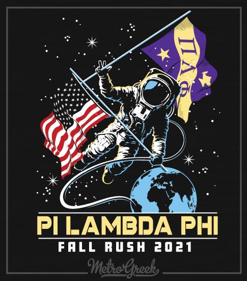 Pi Lambda Phi Rush Shirt Astronaut