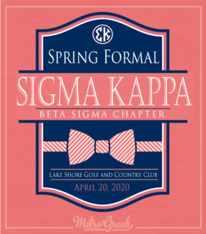 Sigma Kappa Formal Bowtie Shirt