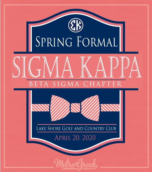 Sigma Kappa Formal Bowtie Shirt