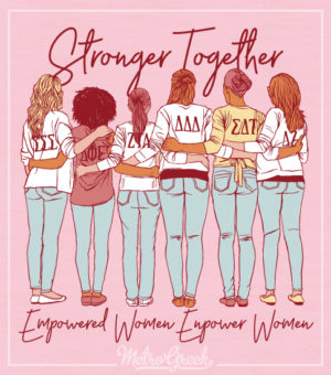 Stronger Together Panhellenic Recruitment Shirt